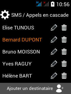 destinataires d_appel application smartphone pti