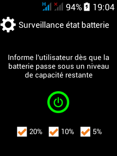 surveillance batterie application smartphone pti dati