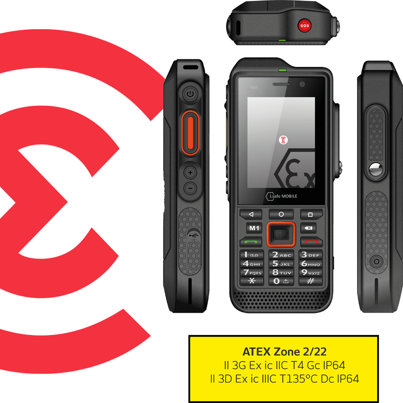 IS330.2 Téléphone PTI ATEX Zone 2 Emerit