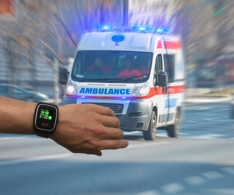 Emerit Watch : La montre de sécurité PTI-DATI   Bouton SOS